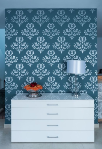 tapiz vinilico pared azul